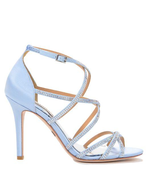 meghan strappy evening shoe in blue light blue save 33 lyst. Black Bedroom Furniture Sets. Home Design Ideas