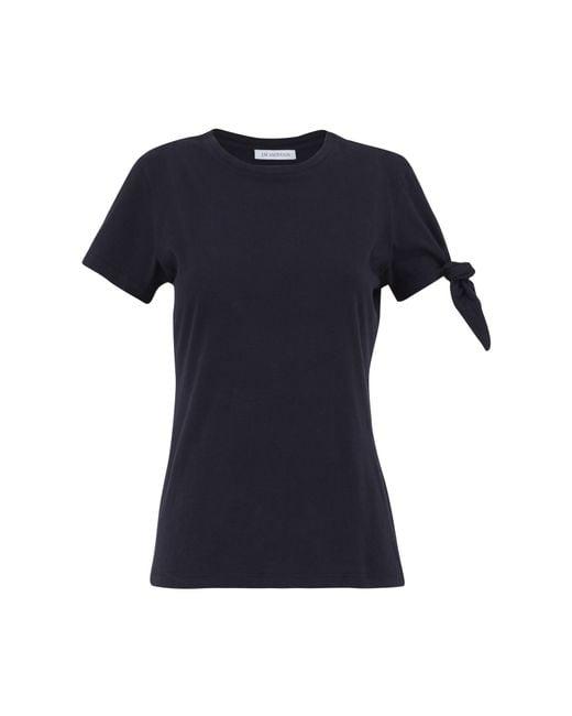 J.W.Anderson   Blue Navy Single Knot T-shirt   Lyst