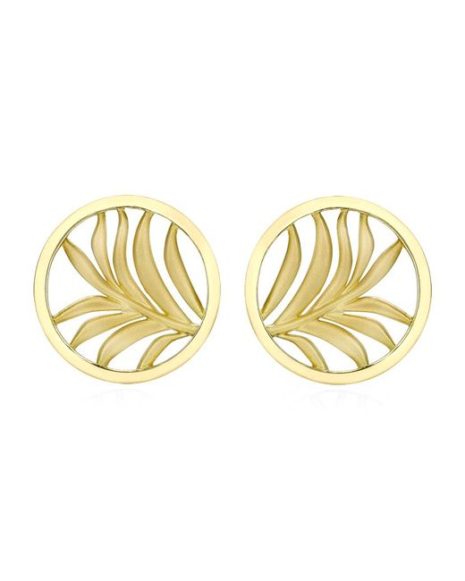 Theo Fennell | Metallic Small Palm Diamond Disc Earrings | Lyst