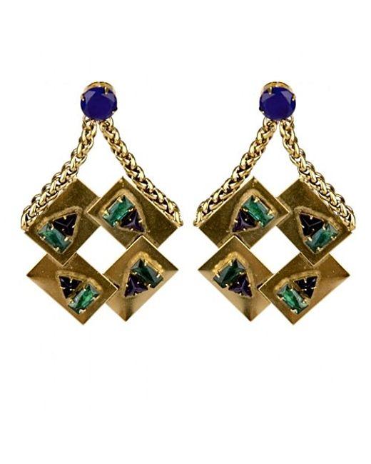 Nicole Romano | Metallic Corona Earrings | Lyst