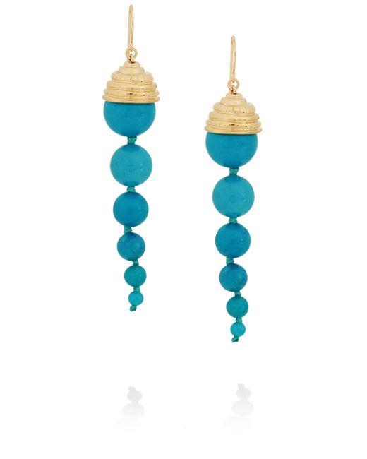 Aurelie Bidermann | Blue Lakotas Pearl Drop Earrings | Lyst