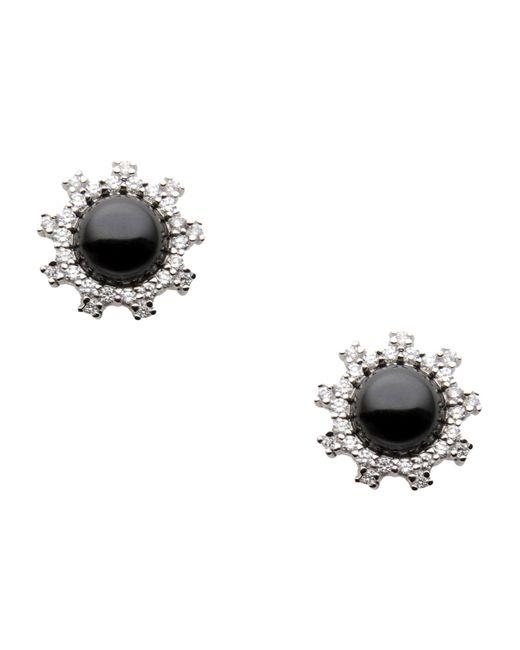 CZ by Kenneth Jay Lane | Black Earrings | Lyst