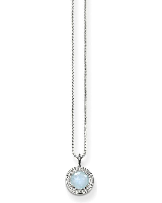 Thomas Sabo | Blue Light Of Luna Sterling Silver Milky Aqua Necklace | Lyst