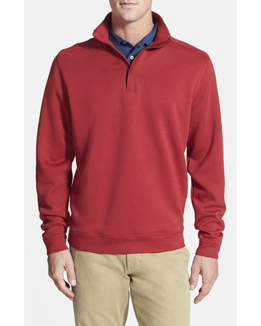 Cutter & Buck | Red 'decatur' Pima Cotton Pullover for Men | Lyst