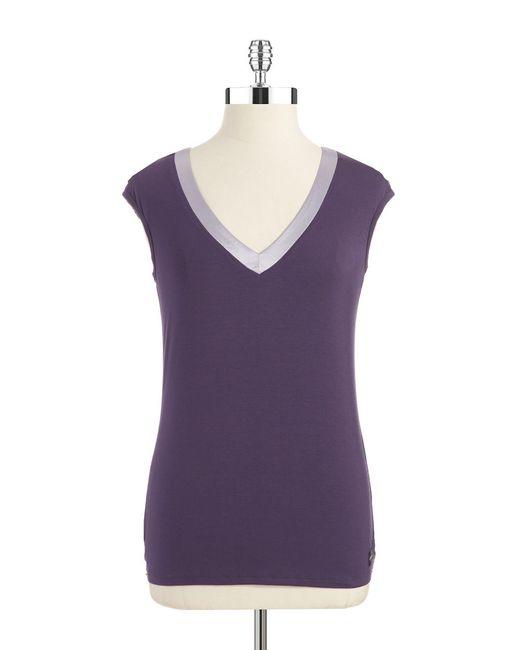 Calvin Klein | Purple Colorblock Sleep Tank | Lyst