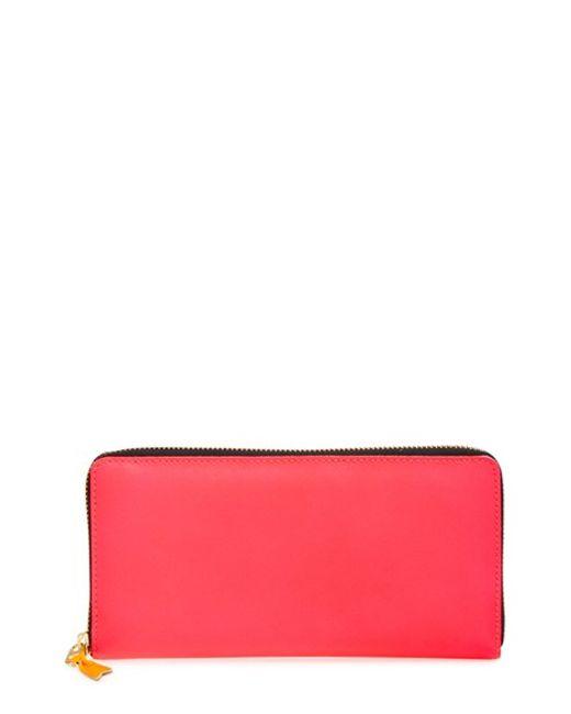 Comme des Garçons | Pink 'super Fluo' Continental Long Wallet | Lyst
