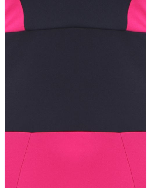 Koo Ture Contrast Colour Block Dress In Pink Lyst