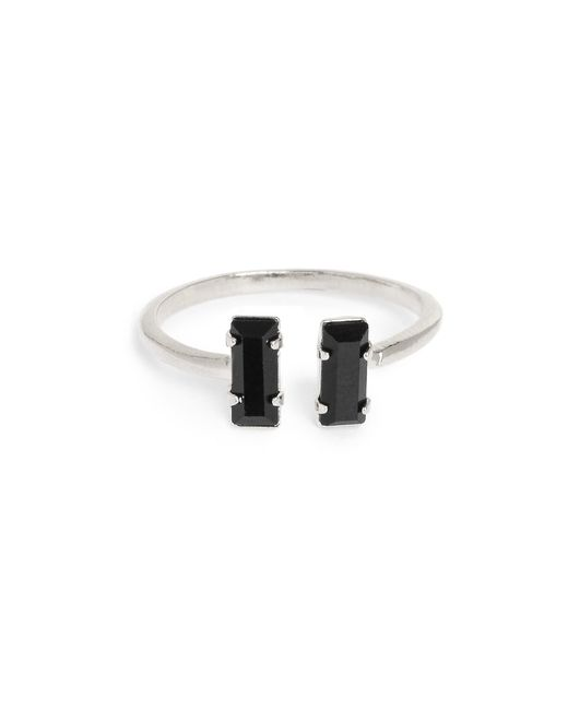Bing Bang | Metallic Double Baguette Ring | Lyst
