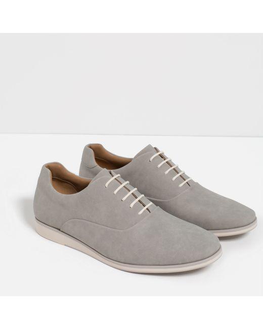 Original Zara Combined Oxford Shoe In Brown For Men Twotone  Lyst