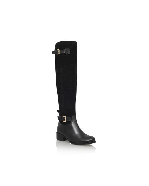 Carvela Kurt Geiger   Black Polly Low Heel Knee Boots   Lyst
