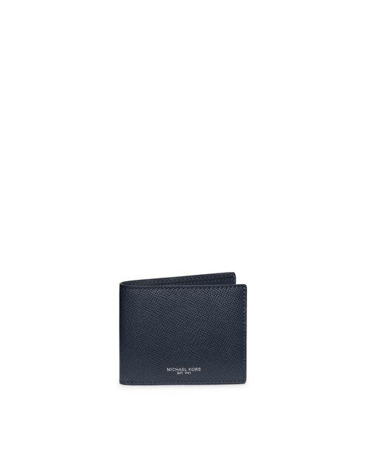 Michael Kors | Blue Harrison Slim Leather Billfold Wallet for Men | Lyst