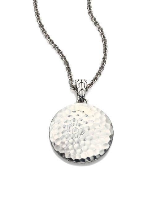 John Hardy | Metallic Palu Sterling Silver Pendant Necklace/22 | Lyst