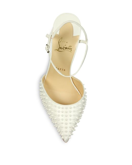 db2bfadc0fbc ... leopard-print satin pumps. Christian louboutin Spiked Patent Leather  Slingback Pumps in White .