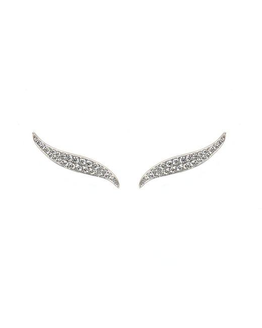 Anita Ko | Metallic White Gold And Diamond Petal Earrings | Lyst