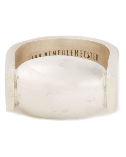 Ann Demeulemeester | Metallic Contrast Horse Shoe Ring | Lyst