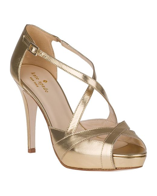 Kate Spade | Get Evening Pump Old Gold Leather | Lyst