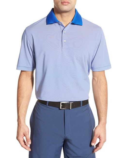 Peter Millar 39 Jubilee Stripe 39 Performance Polo In Blue For