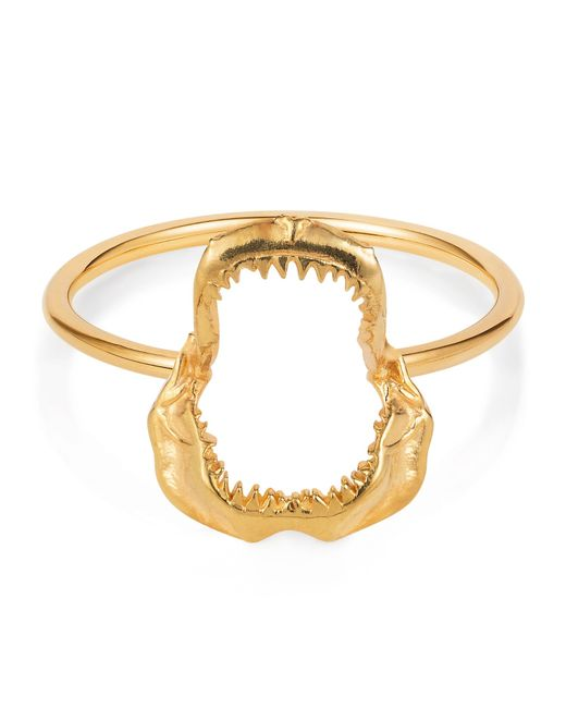Lee Renee | Metallic Mini Shark Jawbone Ring Gold Vermeil | Lyst