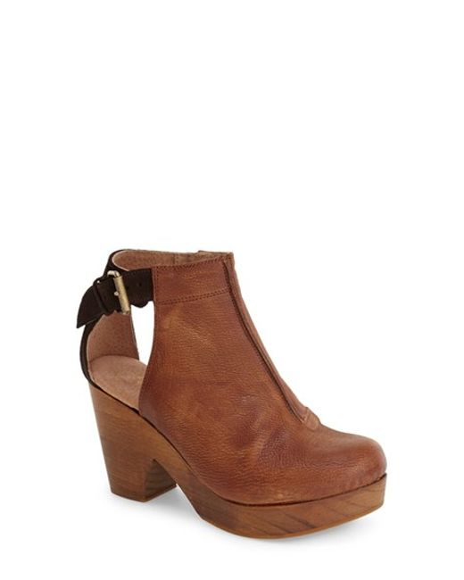 Free People | Brown 'Amber Orchard' Cutout Bootie | Lyst