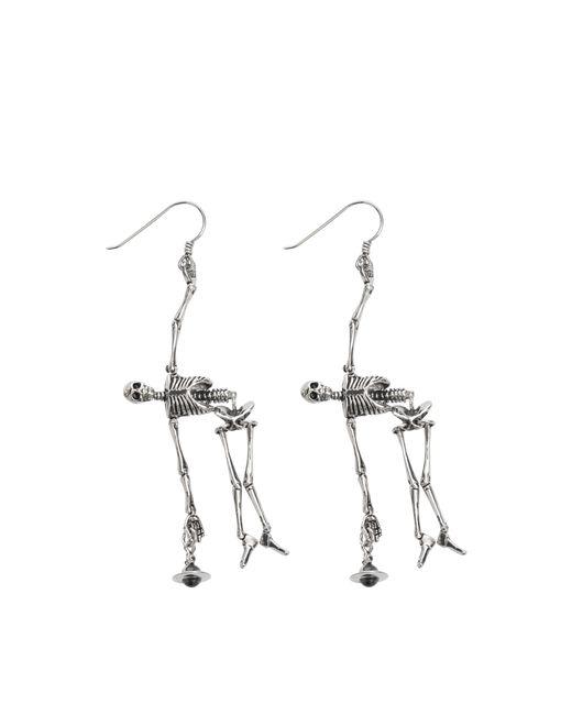 Vivienne Westwood | Gray Skeleton Earrings | Lyst