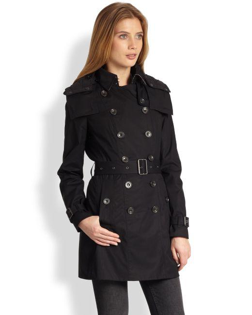 Burberry Reymoore Trench Coat In Black Lyst
