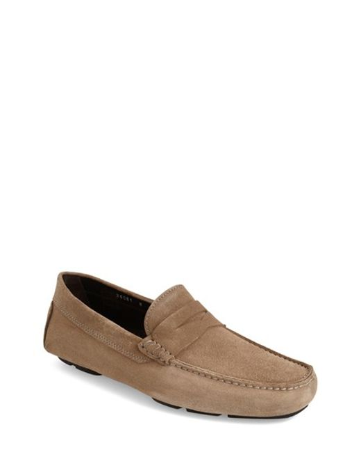 to boot ashton driving shoe in brown for flint lyst