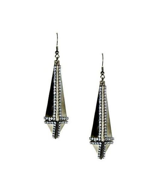 Nicole Romano | Black Obelisk Earrings | Lyst