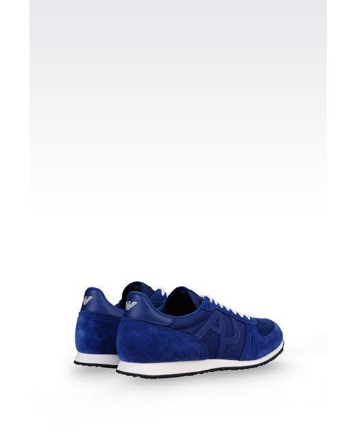 armani jeans sneaker in blue for men save 53 lyst. Black Bedroom Furniture Sets. Home Design Ideas