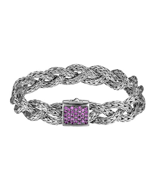 John hardy classic chain small braided silver bracelet in for John hardy jewelry factory bali
