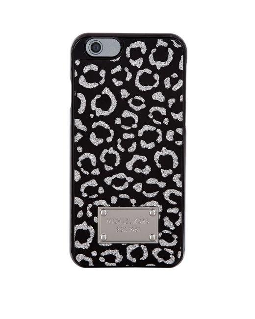 Michael michael kors leopard glitter iphone 6 case in for Housse iphone 6 michael kors