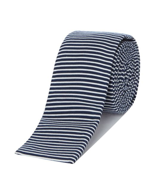 ted baker cruize horizontal stripe tie in white for lyst