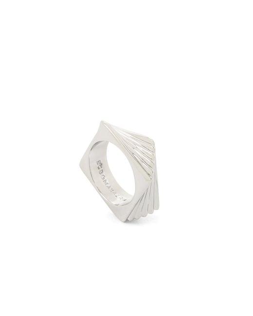 BCBGMAXAZRIA | Metallic Square Angled Ring | Lyst