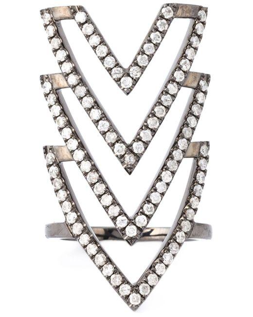 Elise Dray   Metallic 'inca' Phalange Ring   Lyst