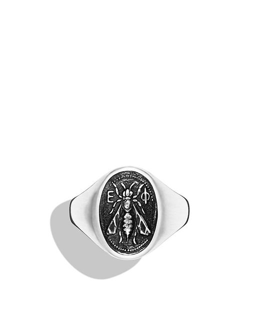 David Yurman | Metallic Petrvs Bee Signet Ring With Black Onyx for Men | Lyst