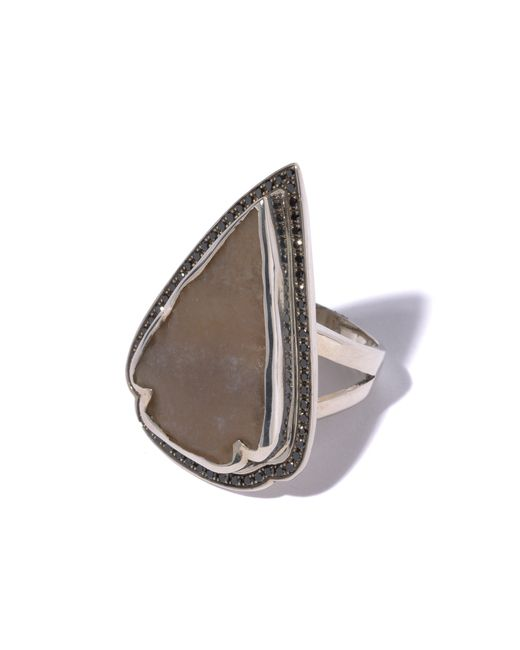 Pamela Love | Brown Jasper Black Diamond Ring - Size 7 | Lyst