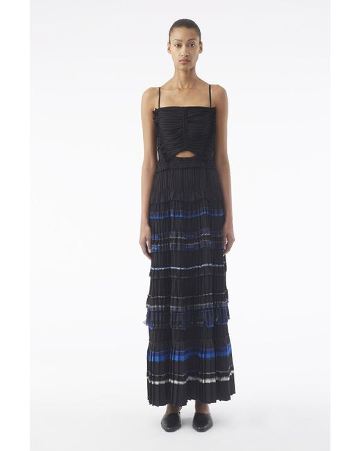 3.1 Phillip Lim Pleated Cami Gown in Black - Lyst