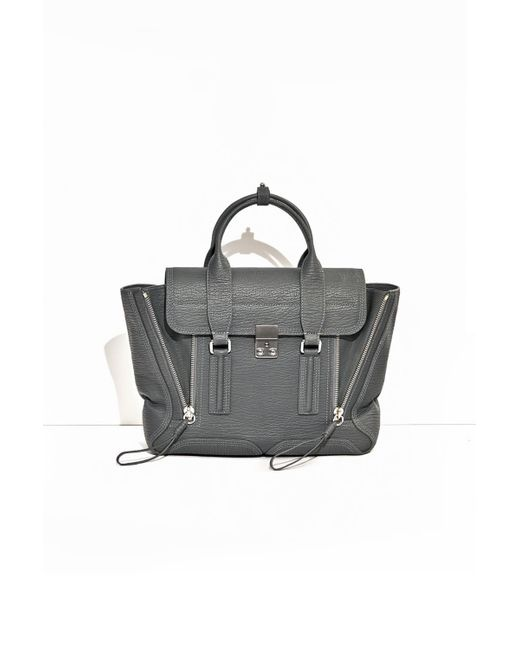 3.1 Phillip Lim - Gray Pashli Medium Satchel - Lyst