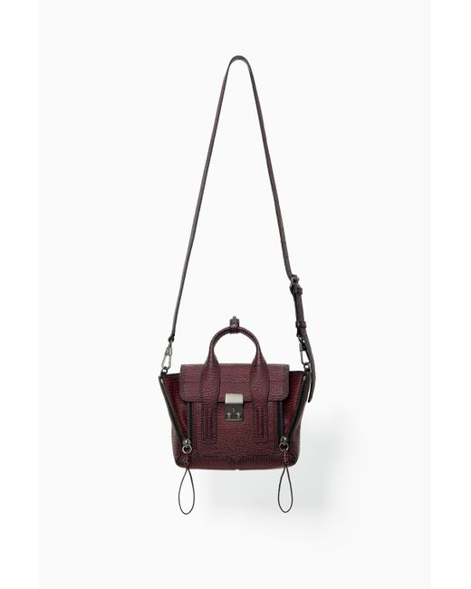 3.1 Phillip Lim | Red Pashli Mini Leather Satchel | Lyst