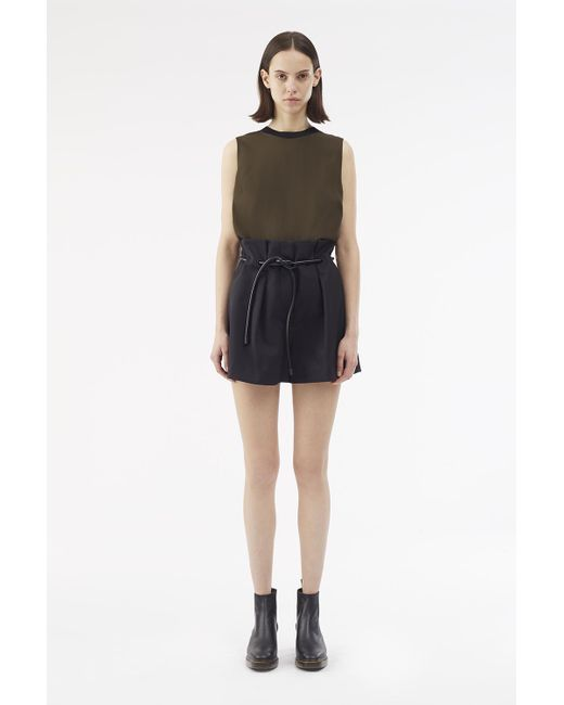 3.1 Phillip Lim - Black Satin Origami Short - Lyst