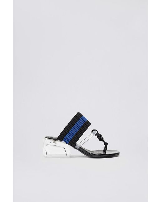 3.1 Phillip Lim - Black Plexi Heel Thong Slide - Lyst