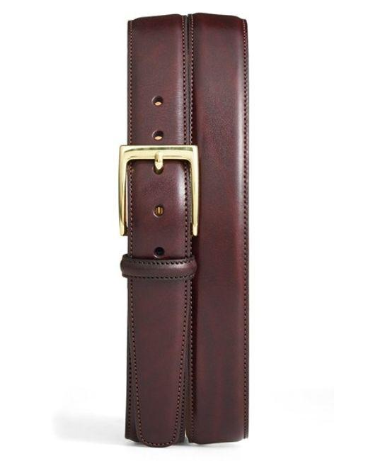 Trafalgar | Purple 'cortina' Leather Belt for Men | Lyst