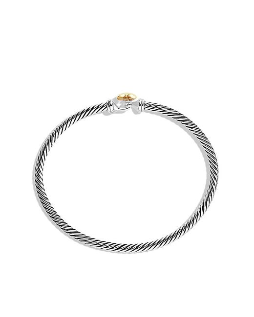David Yurman | Metallic Cable Collectibles Heart Bracelet With 18k Gold, 3mm | Lyst