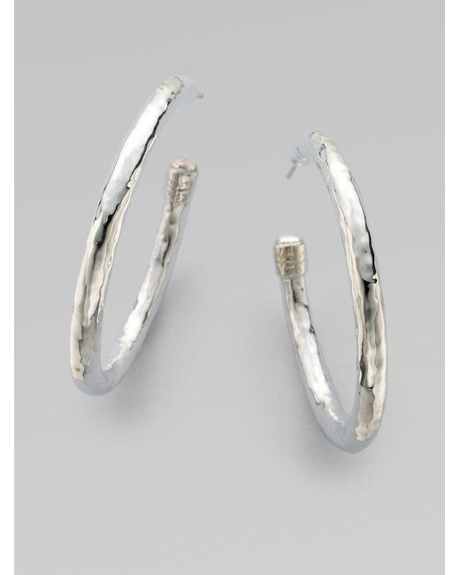 Ippolita   Metallic Glamazon Sterling Silver #3 Hoop Earrings/1.75   Lyst