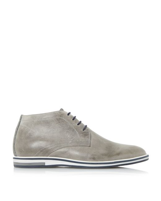 Dune Cape Cod Chukka Boots In Gray For Men (Grey)