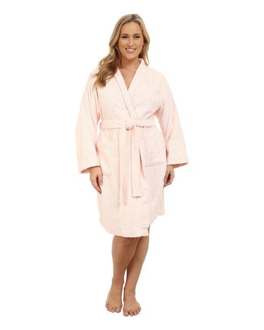 Lauren by Ralph Lauren | Pink Shawl Collar Robe | Lyst