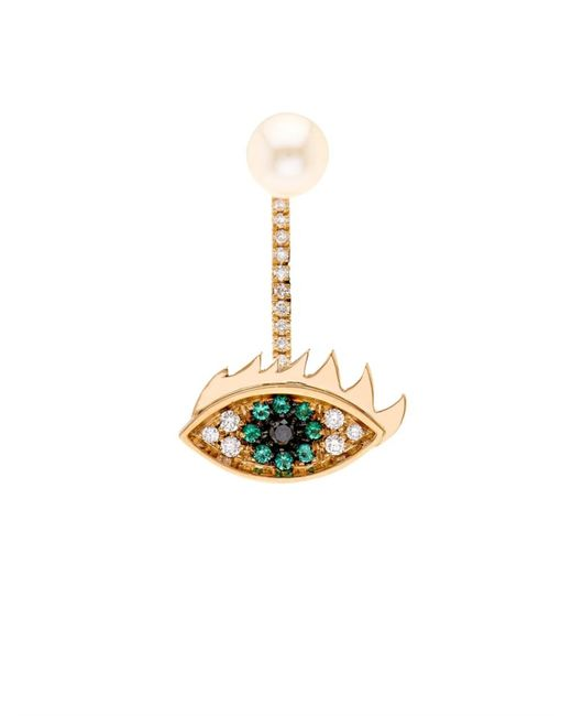 Delfina Delettrez | Yellow Diamond, Emerald, Pearl & Gold Earring | Lyst