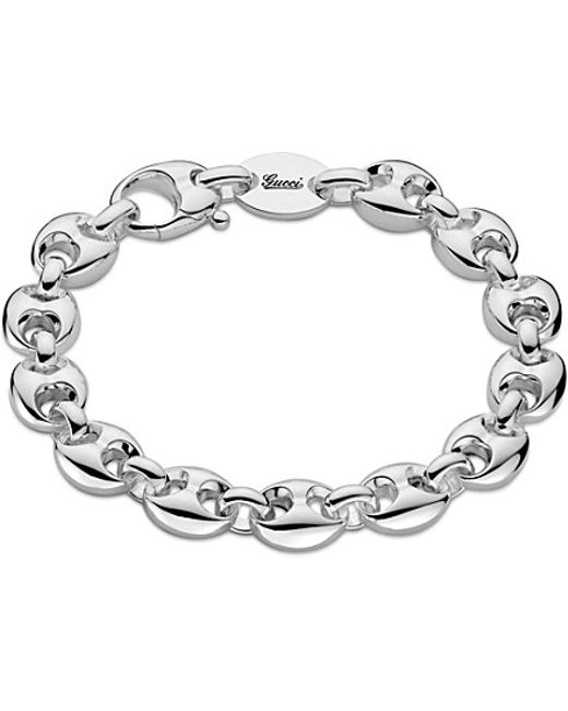 Gucci | Metallic Marina Chain Small Sterling Silver Bracelet | Lyst