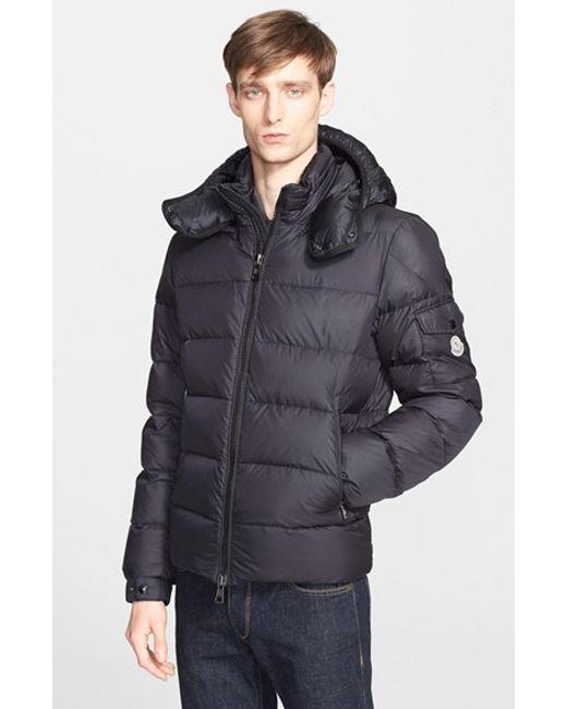 Moncler | Blue 'Himalaya' Hooded Down Jacket for Men | Lyst