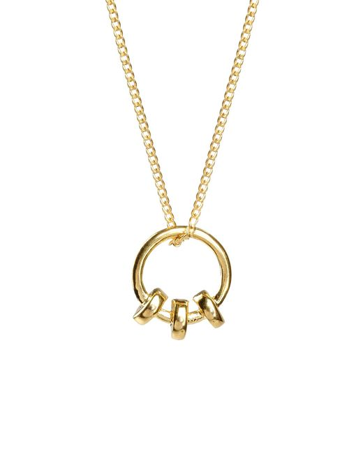 a peace treaty necklace in gold save 32 lyst