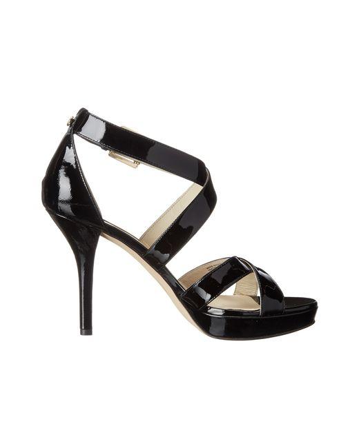 MICHAEL Michael Kors   Black Evie Platform Sandals   Lyst